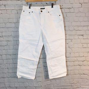 Lauren Jeans Co. white capris
